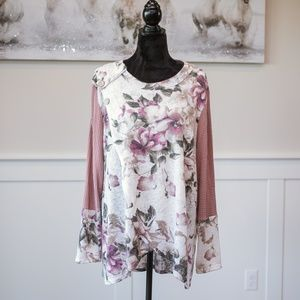 🆕 Oddy Plus Size Long Sleeve Floral Top NWT